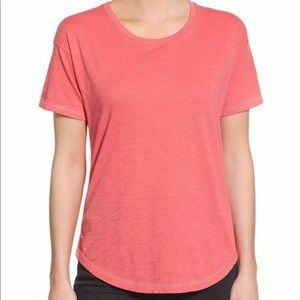 Madewell whisper short sleeve tee in coral
